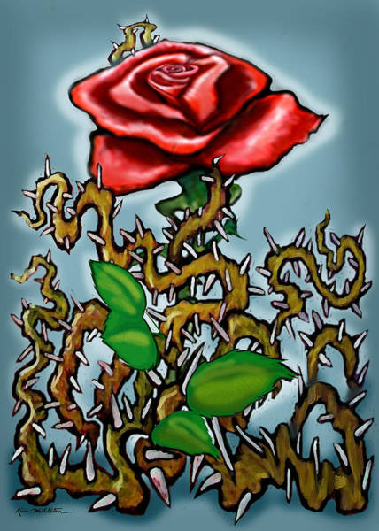 Painting - Rose N Thorns by Kevin Middleton