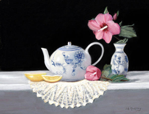 Doily Painting - Rose Of Sharon by Sharon Morley