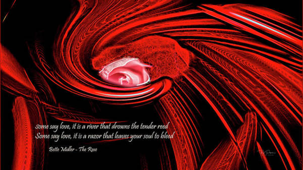 Digital Art - Rose Quote by Bill Posner