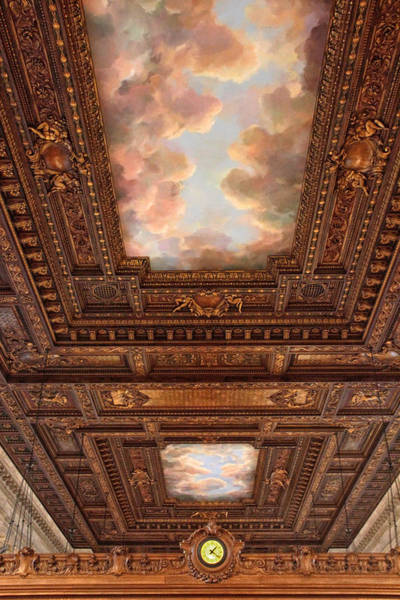 Wall Art - Photograph - Rose Reading Room Ceiling by Jessica Jenney