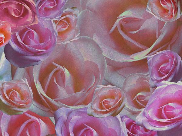 Digital Art - Rose Riot by Lynda Lehmann