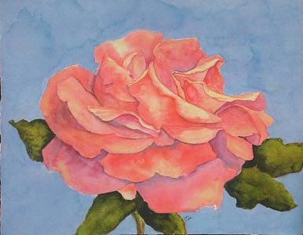 Painting - Rose Side View  by Diane Ziemski