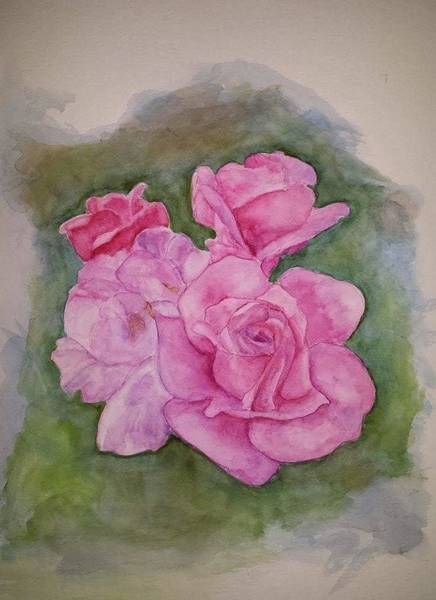 Wall Art - Painting - Rose Spendor by Ann Loyd