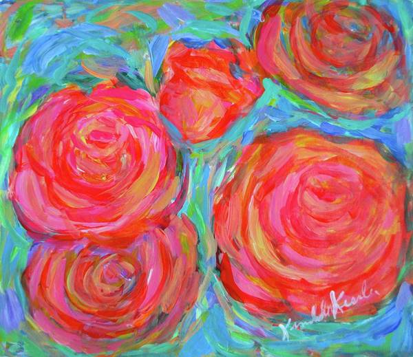 Painting - Rose Spin by Kendall Kessler