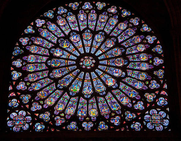 Notre Dame University Photograph - Rose Window At Notre Dame Cathedral Paris by Jon Berghoff