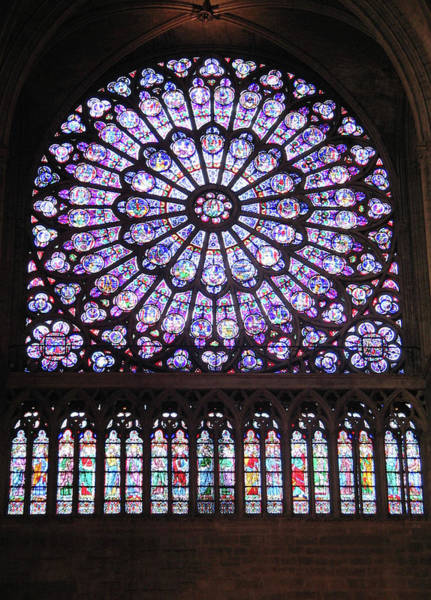 Glass Art - Rose Window by Photographer Dorgan