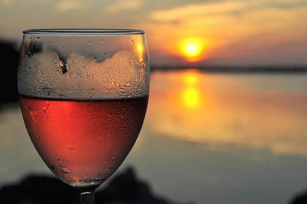 Rose Wine   Key Largo Sunset   Life Is Good Art Print by Jonathan Galente