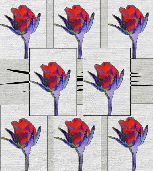 Wild Poppies Digital Art - Rosebuds by Linda Dunn