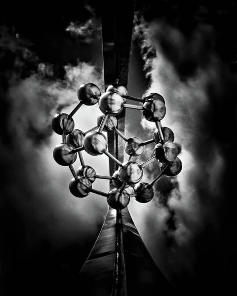 Photograph - Rosehill Reservoir Foutain Sculpture Toronto Canada 1 by Brian Carson