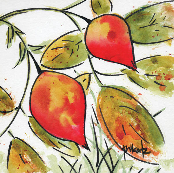 Painting - Rosehips In Autumn by Pat Katz