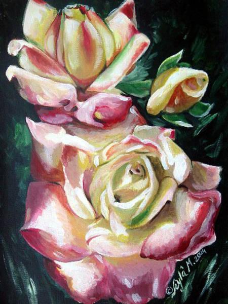 Wall Art - Painting - Roses #4 by Leyla Munteanu