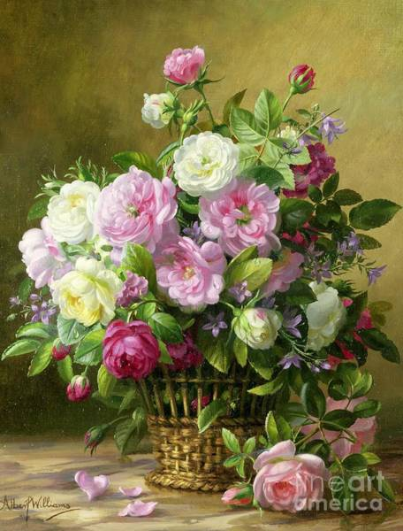 Stalk Painting - Roses  by Albert Williams