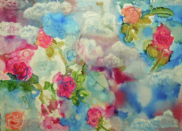 Painting - Roses Among The Clouds by Pam Halliburton