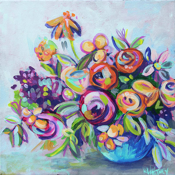 Bright Wall Art - Painting - Roses And Kumquats by Kristin Whitney