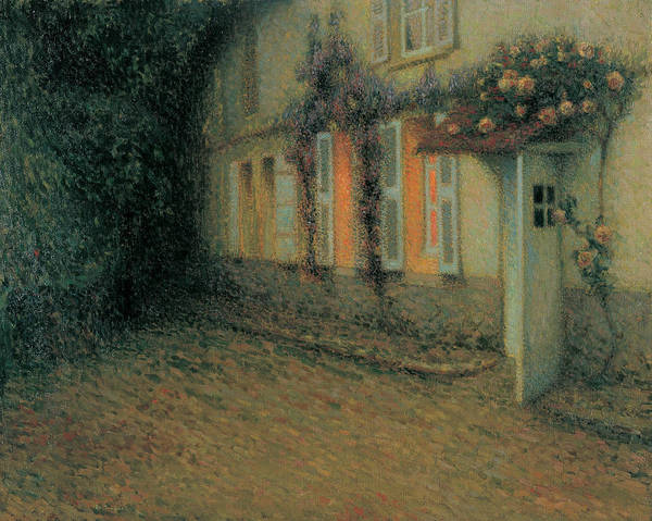 Wisteria Wall Art - Painting - Roses And Wisterias On The House by Henri Le Sidaner