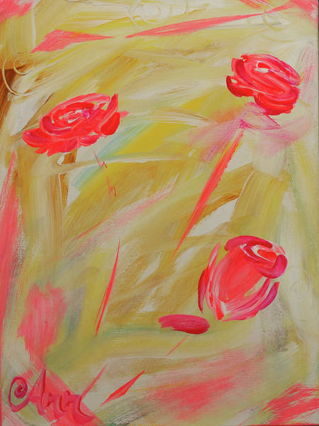 Wall Art - Painting - Roses by Ann Lutz