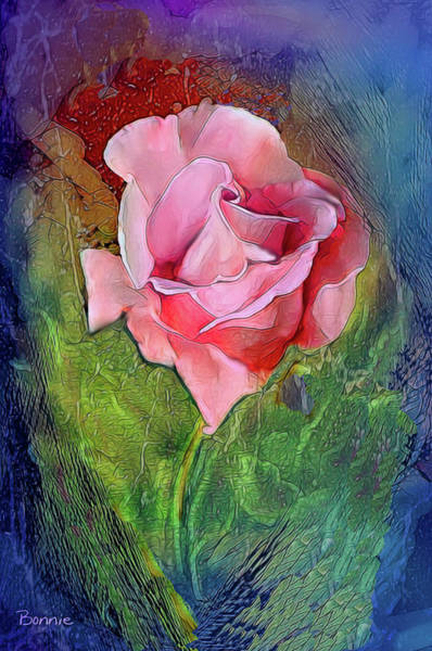 Digital Art - Roses Are Pink by Bonnie Willis