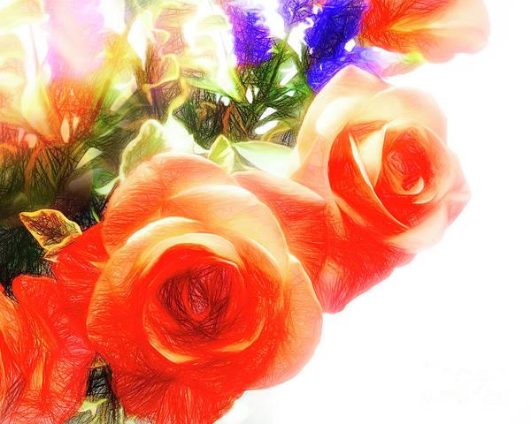 Digital Art - Roses Are Red by Edmund Nagele