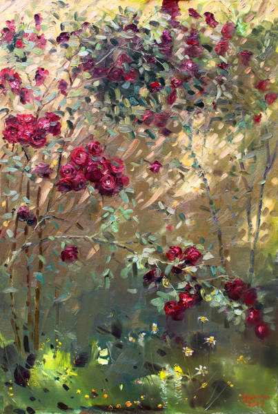 Wall Art - Painting - Roses Are Red by Ylli Haruni