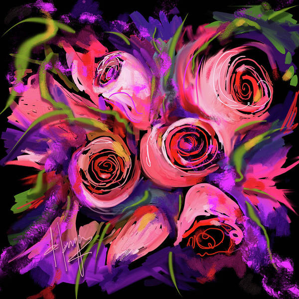 Painting - Roses by DC Langer