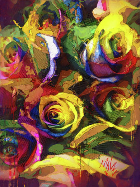 Painting - Roses Dream by Mal-Z