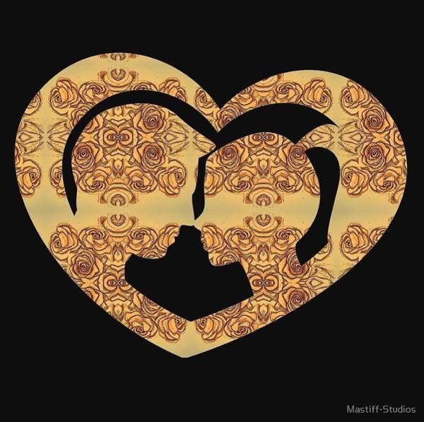 Mixed Media - Roses, Hearts, And A Kiss by Mastiff Studios