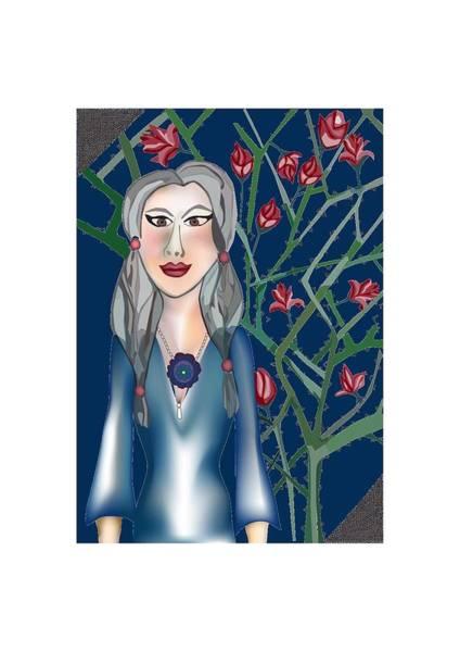 Digital Art - Roses Of Mother Mary by Tatiana Hallack