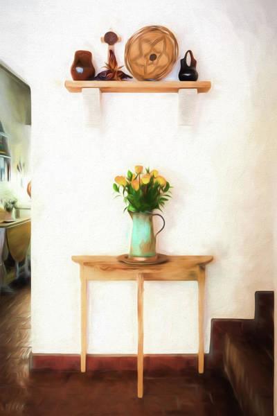 Digital Art - Rose's On Table by Lou Novick
