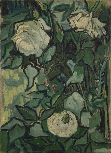 Painting - Roses Saint Remy De Provence  May-june 1889 Vincent Van Gogh  1853  1890 by Artistic Panda