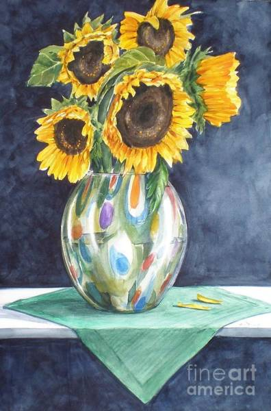Painting - Rose's Sunflowers by Jane Loveall