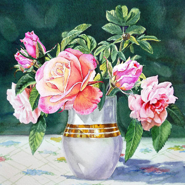 Country Style Painting - Roses Under The Sun by Irina Sztukowski