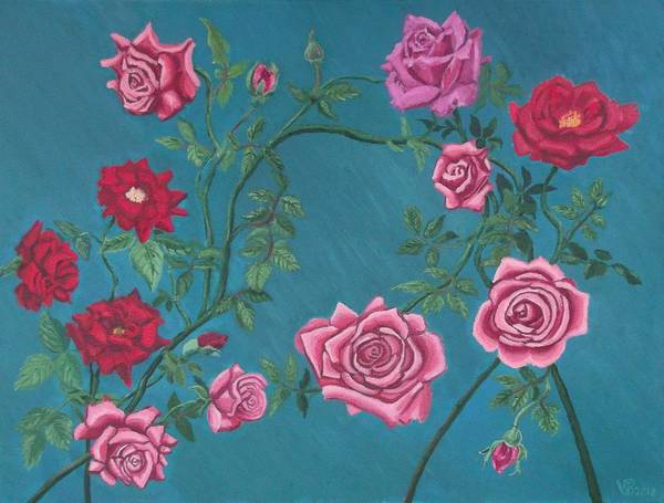 Painting - Roses by Vera  Smith