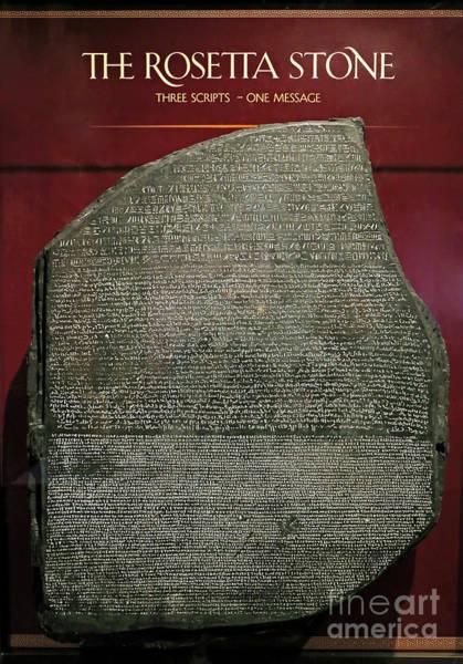 Photograph - Rosetta Stone Replica by Kevin McCarthy