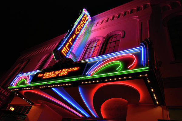 Photograph - Roseville Theater Neon Sign by Melany Sarafis