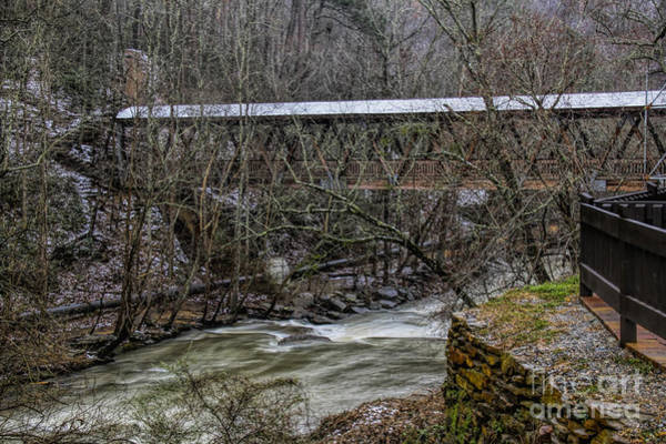 Photograph - Rosewell Manufacturing Co Covered Bridge by Barbara Bowen