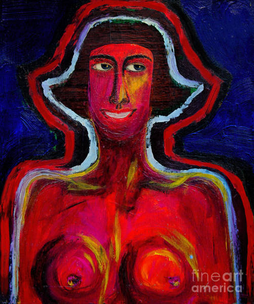 Painting - Rosie And Her Red Aura by Jeff Breiman