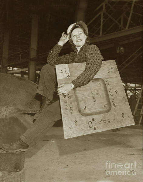 Photograph - Rosie The Riveter Circa 1945 by California Views Archives Mr Pat Hathaway Archives