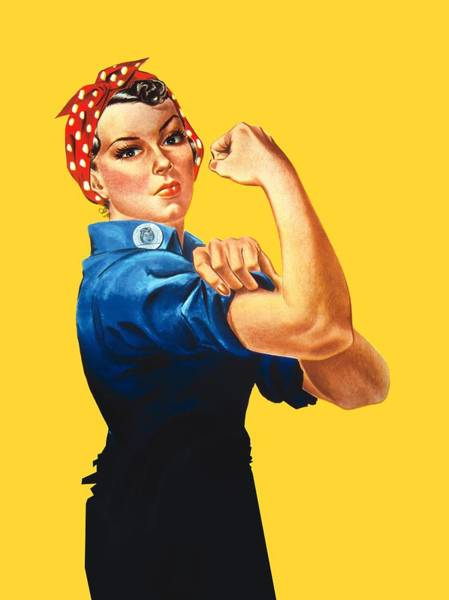 Office Digital Art - Rosie The Riveter Retro Style by Garaga Designs
