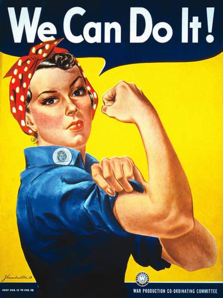 Painting - Rosie The Riveter Vintage  by Tony Rubino