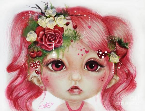 Imagination Drawing - Rosie Valentine - Munchkinz Collection  by Sheena Pike
