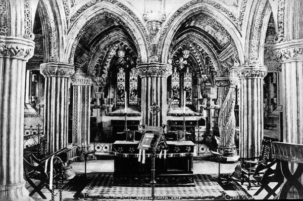 Photograph - Rosslyn Chapel Nave by Lee Santa
