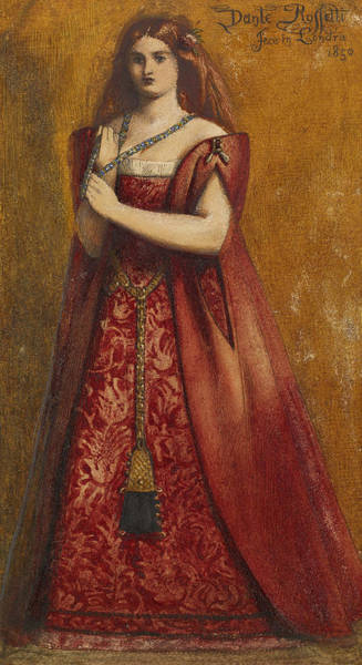 Painting - Rosso Vestita  by Dante Gabriel Rossetti