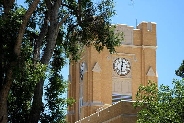 Photograph - Roswell Clock Tower by Colleen Cornelius