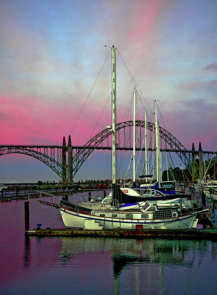 Photograph - Rosy Dawn At Yaquina Bay by Robert Potts