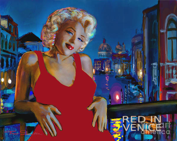 Painting - Rot In Venedig / Red In Venice by Theo Danella