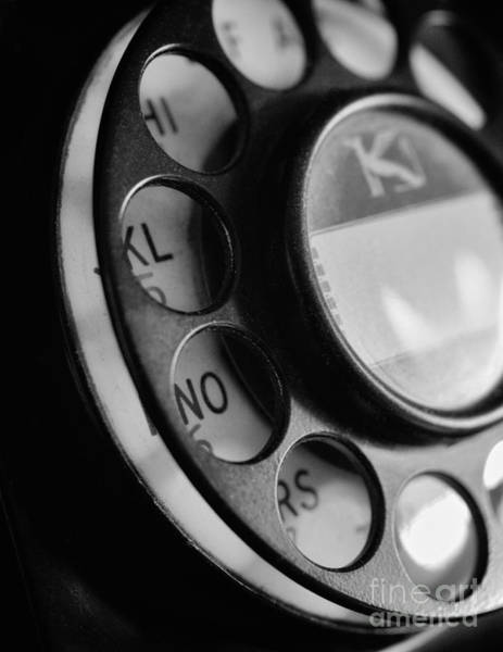 Photograph - Rotary Dial In Black And White by Mark Miller