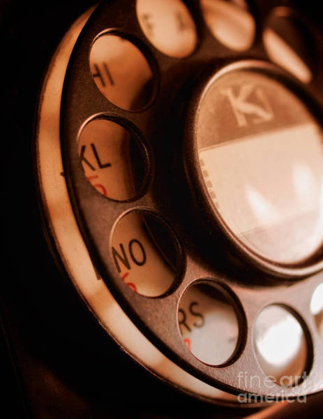 Photograph - Rotary Dial by Mark Miller