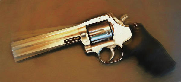 Wall Art - Mixed Media - Rotating Revolver by Dan Sproul