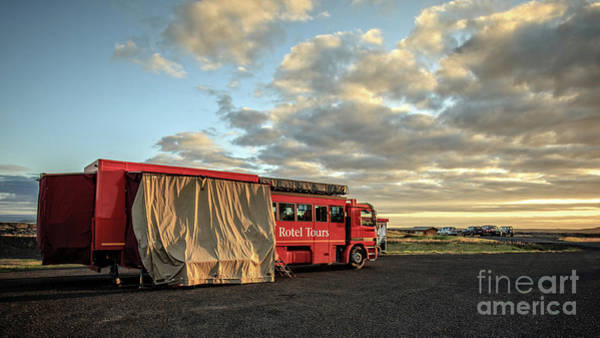 Photograph - Rotel Rolling Hotel Tours Iceland by Edward Fielding