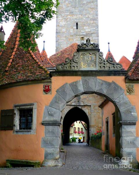 Village Gate Photograph - Rothenburg Gate by Carol Groenen